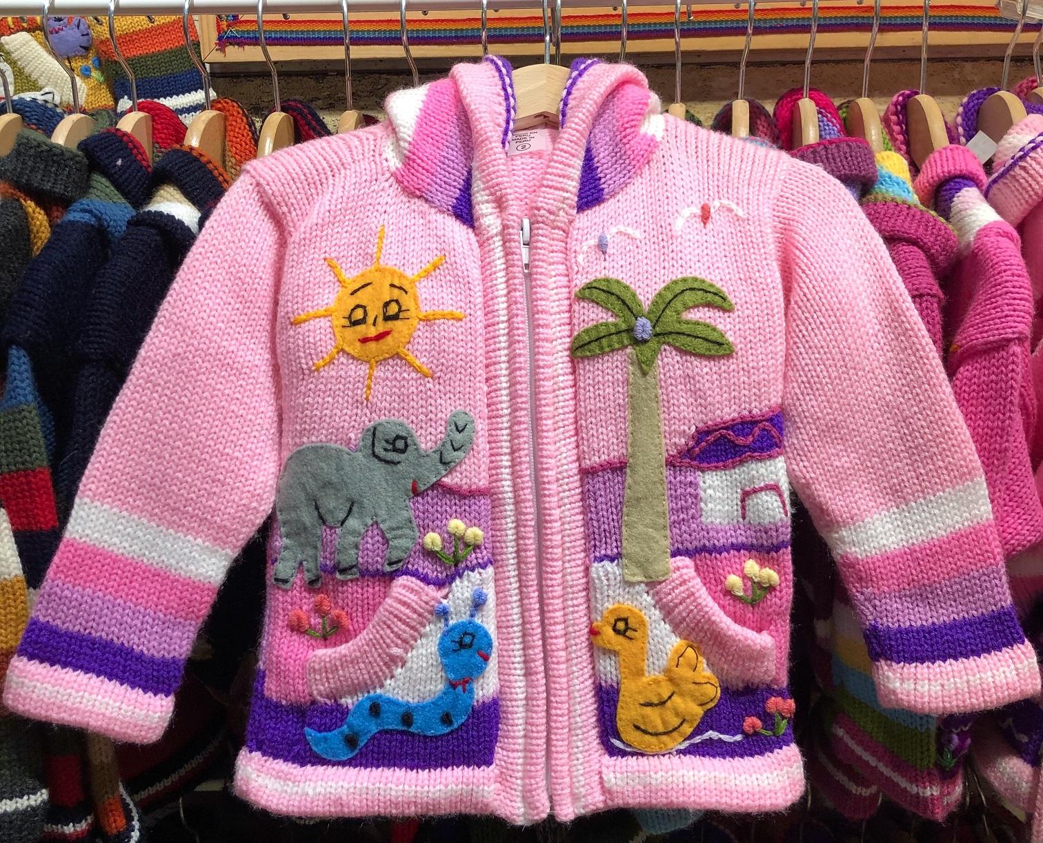 Детска жилетка розова размер 2-3 години
