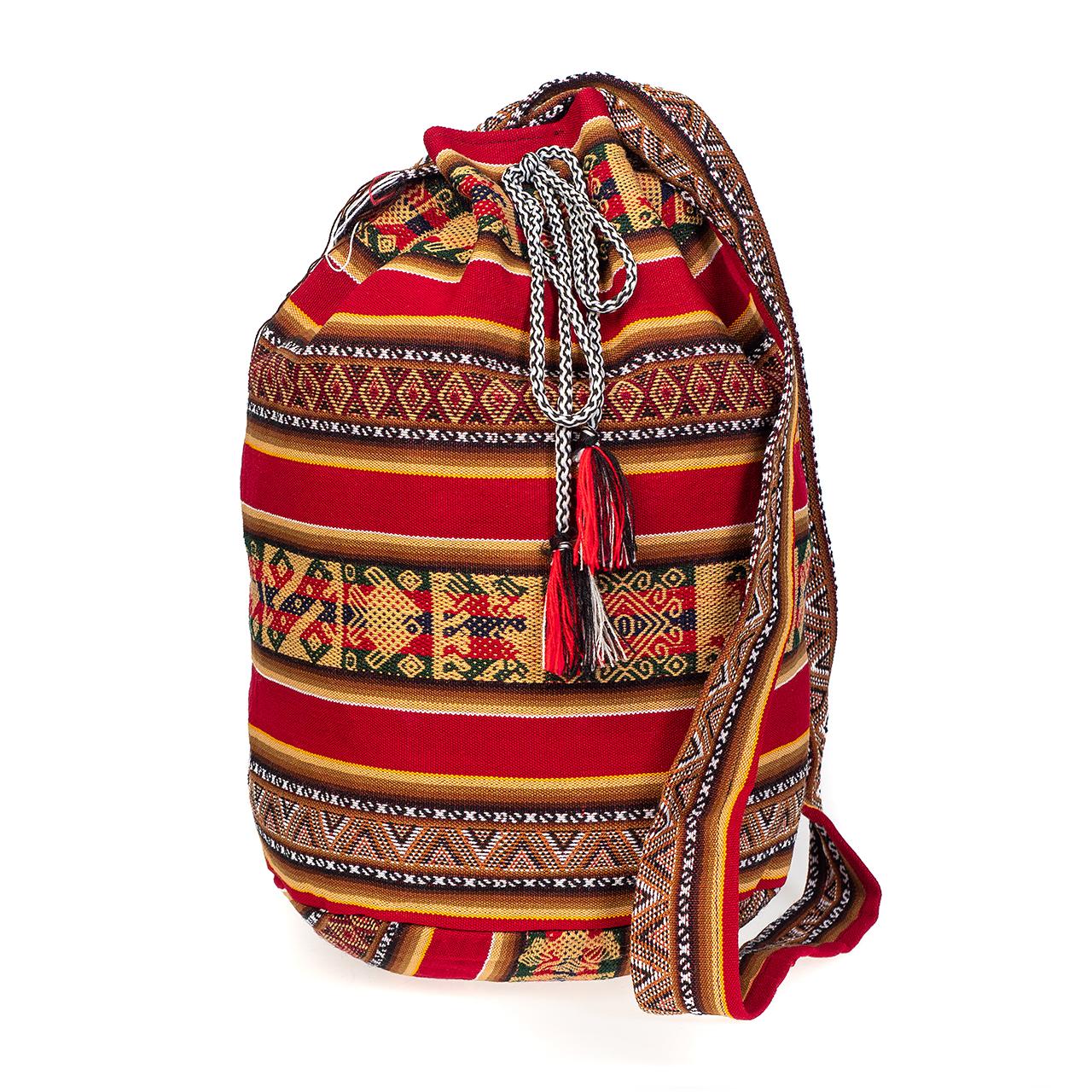 снимка на Чанта голяма тъмно червена