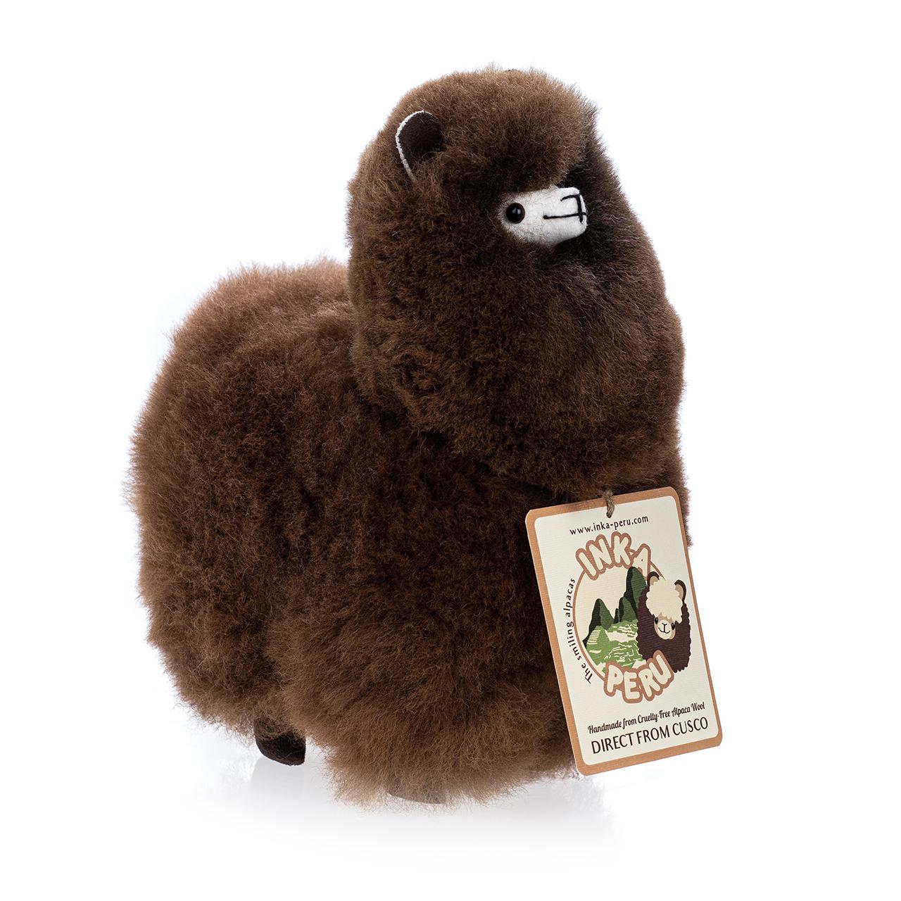 снимка на Усмихната алпака – голяма,  см, Шоколад