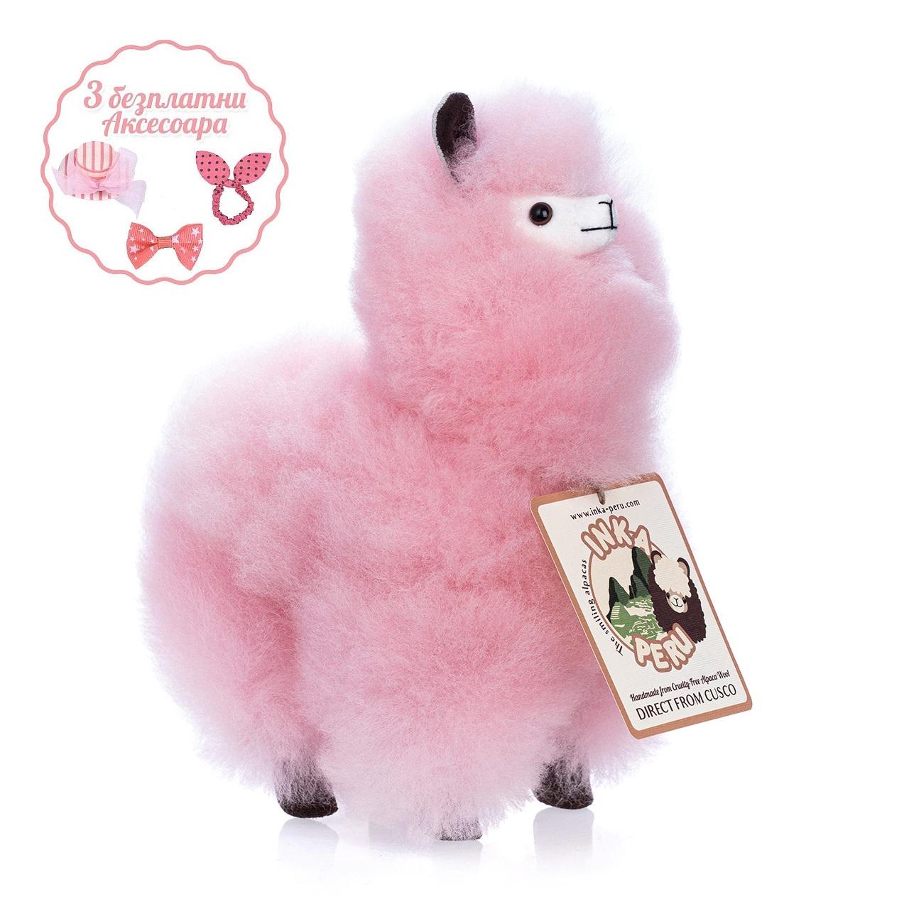 снимка на Усмихната алпака – голяма,  см, Захарен Памук