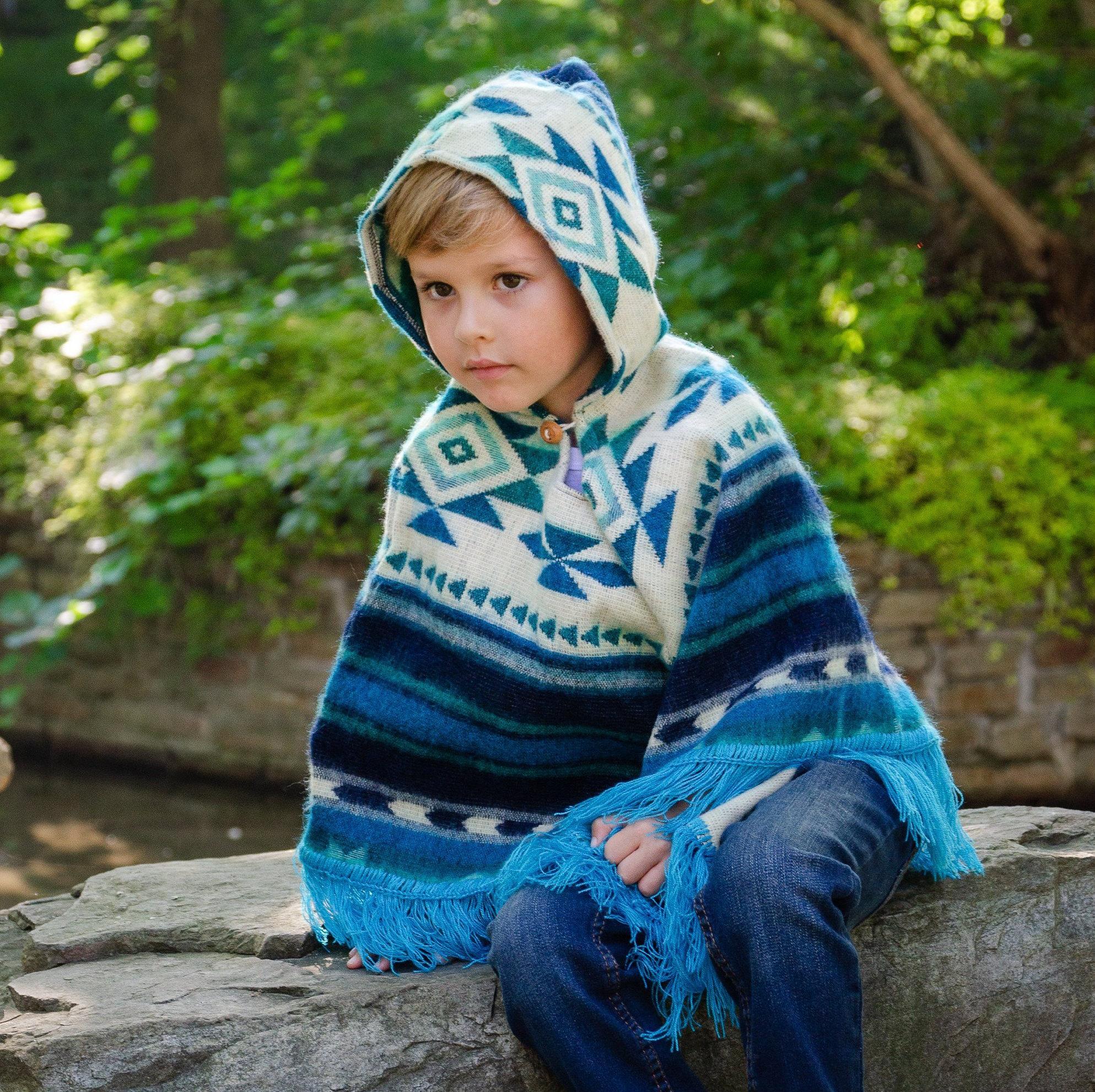снимка на Детско пончо синьо размер  години