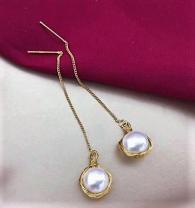 снимка на Висящи обици с перли