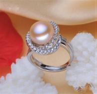 снимка на Пръстен от сребро с перла