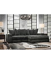 Сив ъглов диван с мемори пяна по поръчка 528