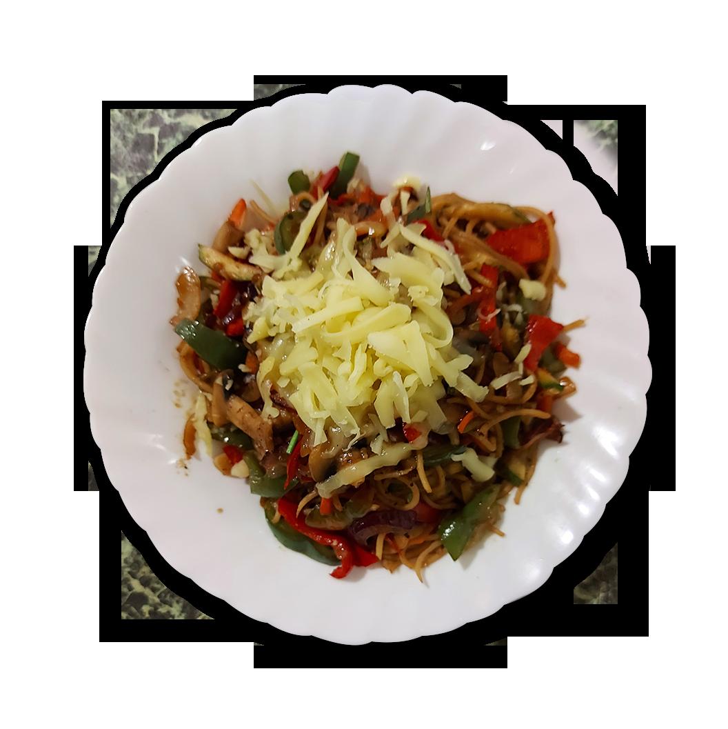 снимка на Спагети със зеленчуци гр.