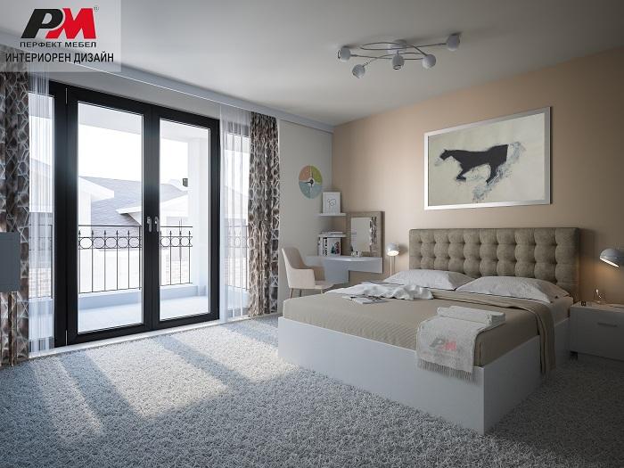 снимка на Изящен интериорен дизайн на спалня в нежни феерични тонове