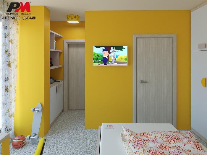 снимка на Колоритен интериорен проект на момичешка детска стая