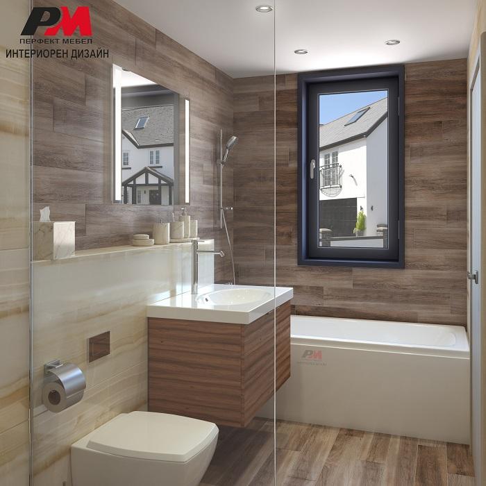 Вдъхновяващ интериорен проект на луксозна модерна баня
