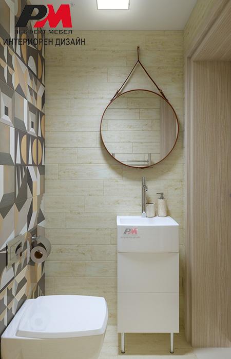 снимка на Естетично малко тоалетно пространство