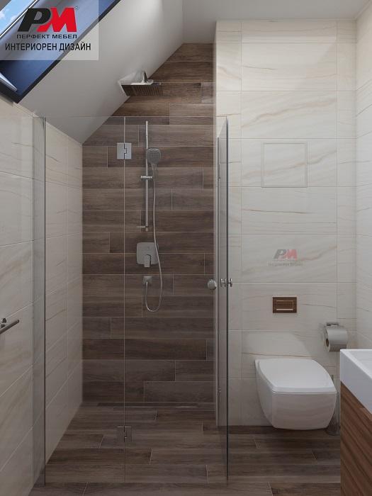 Модерно интериорно решение на баня