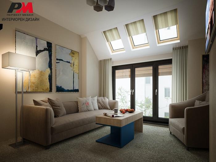 снимка на Елегантно пространство в модерен стил и успокояващо въздействие