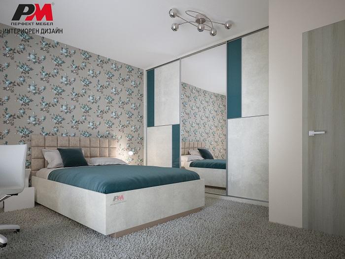 снимка на Артистично интериорно решение на спално помещение