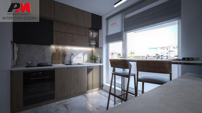 Модерен интериорен проект на кухня в изчистена и стилна линия