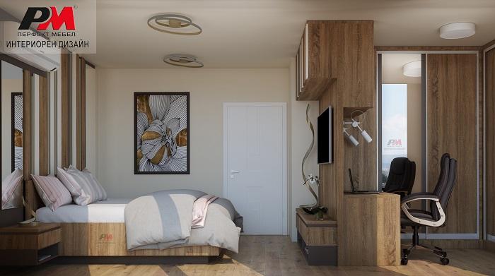 снимка на Спалня със стилно и уютно звучене със завладяващ дизайнерски интериор