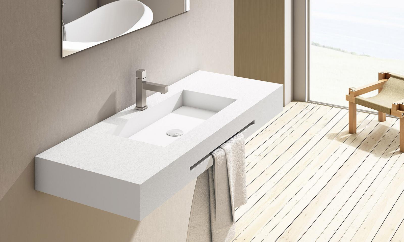 Елегантна, голяма мивка за баня