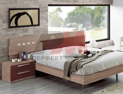 спалня 160/200 с метални крака