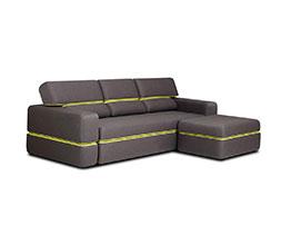 снимка на Разтегателен диван тройка с табуретка Open