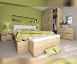 снимка на Спалня с тапицирана табла Казабланка