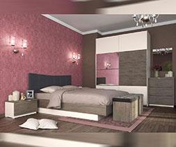 снимка на Спалня с тапицирана табла Мока