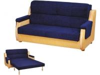 Разтегателен син диван