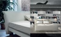 Дизайнерско бяло легло
