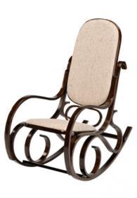 снимка на Люлеещ се стол в бежова дамаска