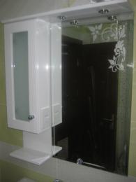 снимка на Водоустойчив шкаф за баня с огледало