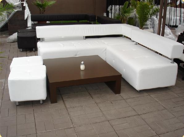 Бял диван за заведение 12966-1682