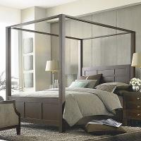 снимка на Модерна спалня с балдахин
