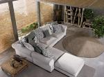 снимка на луксозни ъглови дивани