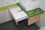 снимка на топкачествени мебели за баня с плот технически камък лукс