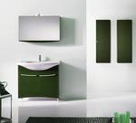 снимка на сигурни  мебели за баня с плот технически камък водоустойчиви