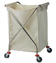 снимка на Компактна сгъваема камериерска количка за бельо