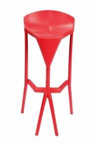снимка на Бар стол от технополимер за външна употреба
