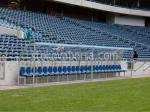 снимка на изработка на резервни скамейки със седалки от поликарбонат