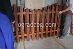 снимка на производство на дървени ниски оградни пана по поръчка