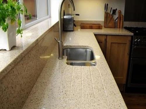 снимка на Плот за кухня ''LACTEA'' от технически камък