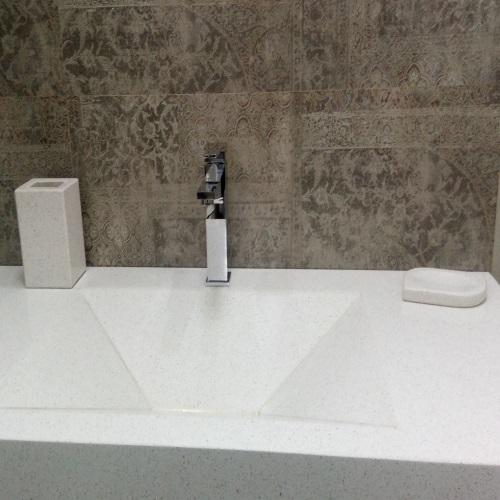 снимка на Аксесоар за баня от технически камък SNOW