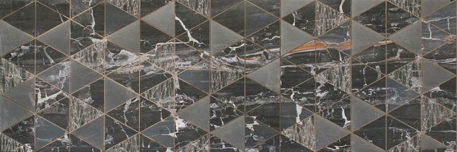 снимка на Декор плочка за баня LEONARDO LIONELA BLACK BRILLO x