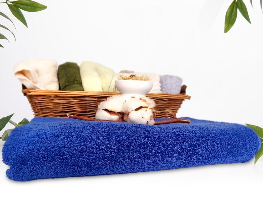 Синя хавлиена кърпа за СПА