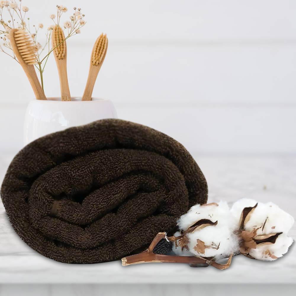 снимка на Кафява хавлиена кърпа