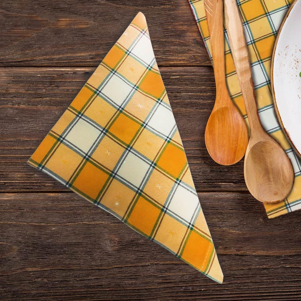 Текстилна салфетка жълто каре от HRS Collections